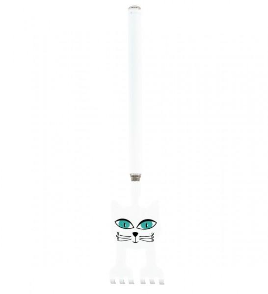 Pylones - Teleskop-Rückenkratzer Chatouille - Katze weiß