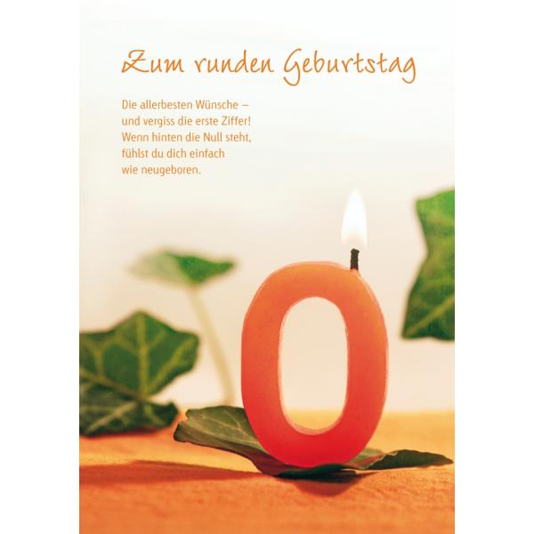 Maxi-Card - XXL-Karte DIN A4 - Kerze - Zum runden Geburtstag