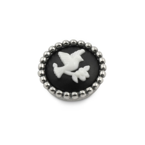 Ring Ding - Top für Ringe - Camee Vögelchen schwarz weiss