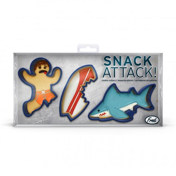 Invotis Fred - Keks-Ausstecher Hai Surfer Surfbrett Snack Attack