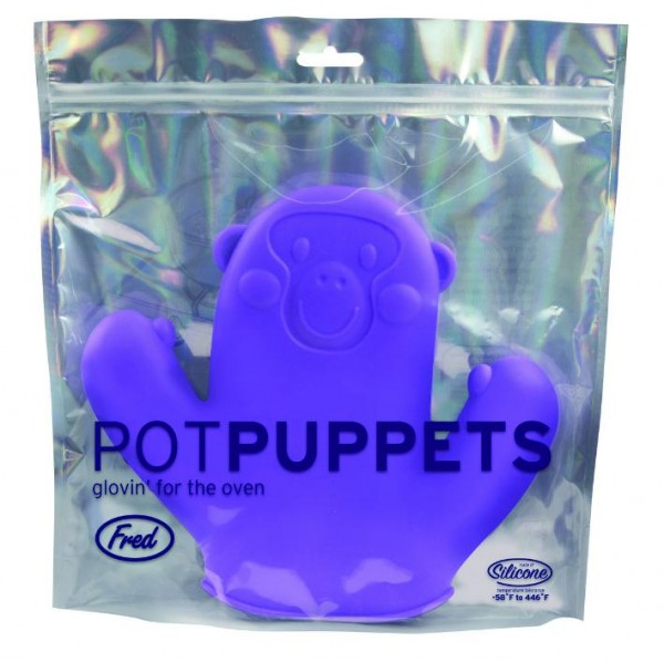 Invotis - Fred - Topflappen - Pot Puppets - Affe lila
