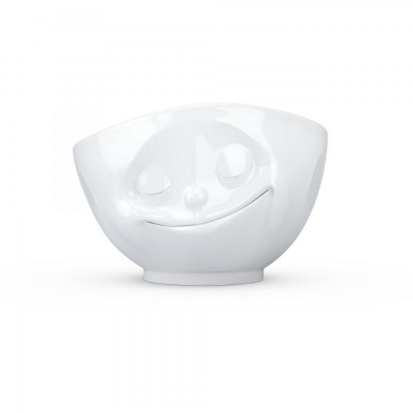 TV Tassen - Schale mit Gesicht 1000ml - glücklich - aus Porzellan