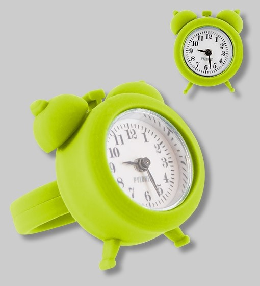Pylones - Uhren-Ring - Ring mit Uhr - Nano Watch - grün