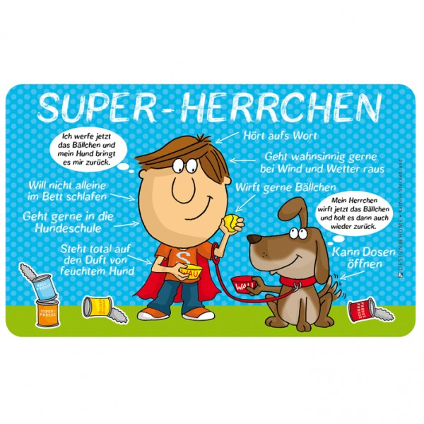 Frühstücksbrettchen - Super Herrchen