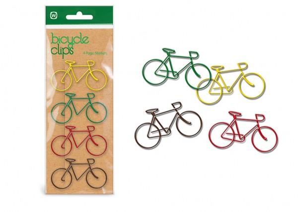 Büroklammern Fahrrad-Design - Bicycle Clips 4er-Set
