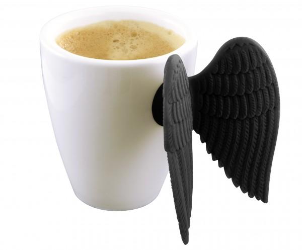 Pylones - Espressotasse mit Engelsflügel - Angel Express schwarz