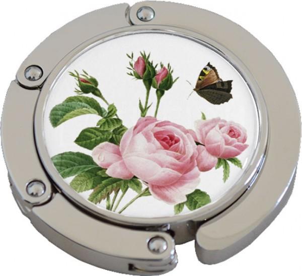 Taschenhalter - Taschenaufhängung Klack - Rosen und Schmetterling