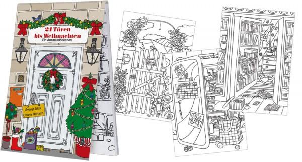 Ist Weihnachten Am 24 Oder 25.Adventskalender Blöckchen Malblöckchen 24 Türen Bis Weihnachten 25 Blatt