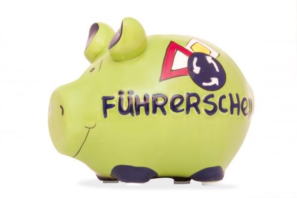 Sparschwein - Spardose Kleinschwein - Führerschein