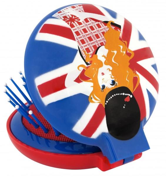 Pylones - Pocket Haarbürste mit Spiegel - Lady Retro - England