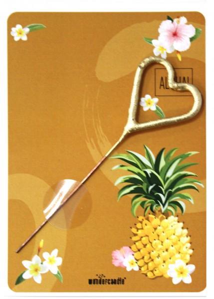 Wondercandle - Mini-Grußkarte mit Wunderkerze - Aloha