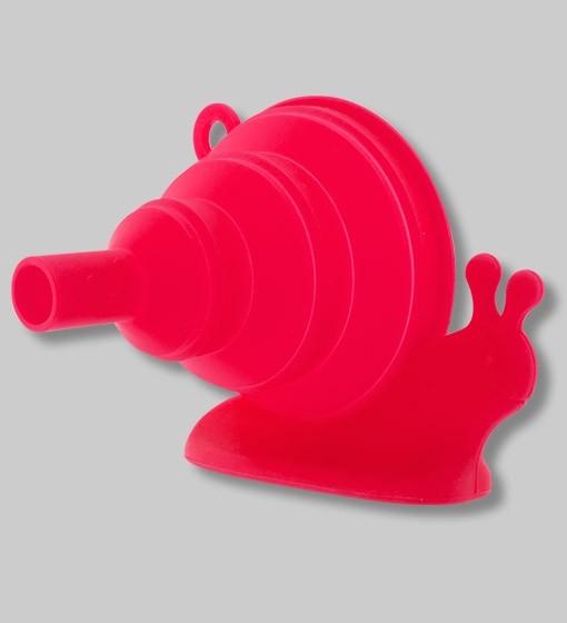 Pylones - Faltbarer Trichter aus Silikon Schnecke Escargot rot