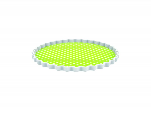 zak! designs - Servierplatte Kuchenteller - Dotty Punkte grün