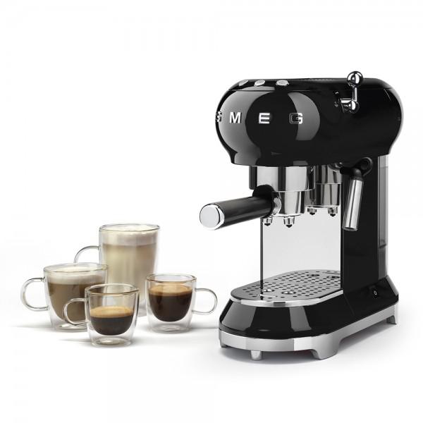 Smeg - Siebträgermaschine Espressomaschine - 50er Jahre Design - schwarz