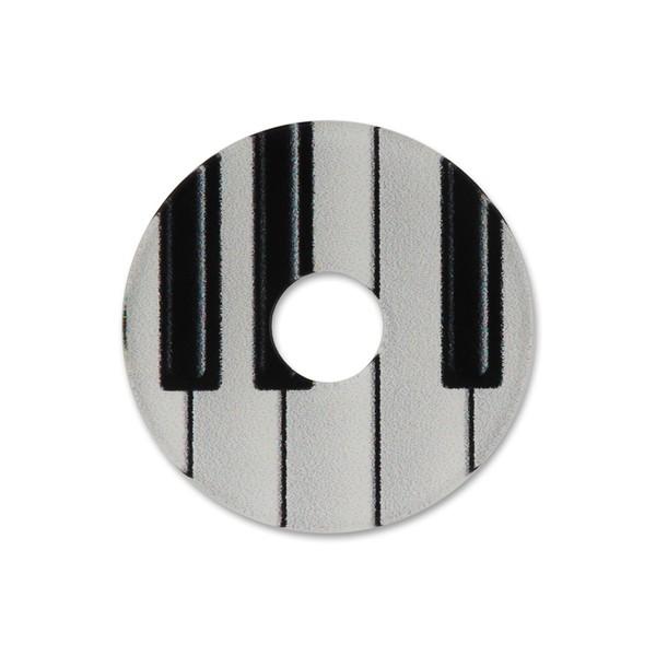 Ring Ding - Scheibe für Ringe - 28mm B/W Klavier