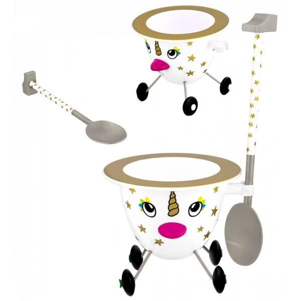 Pylones - Eierbecher - Rolling Egg - Cocotte - Unicorn Einhorn