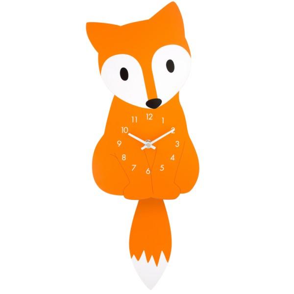 Pylones - Wanduhr Pendeluhr - Dancing Clock Fox - Fuchs