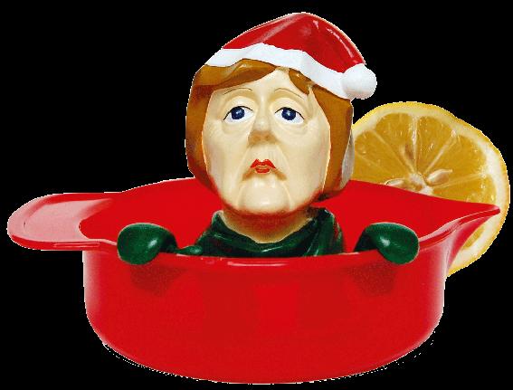 Zitronenpresse Zitruspresse - Angela Merkel - Weihnachts-Angie