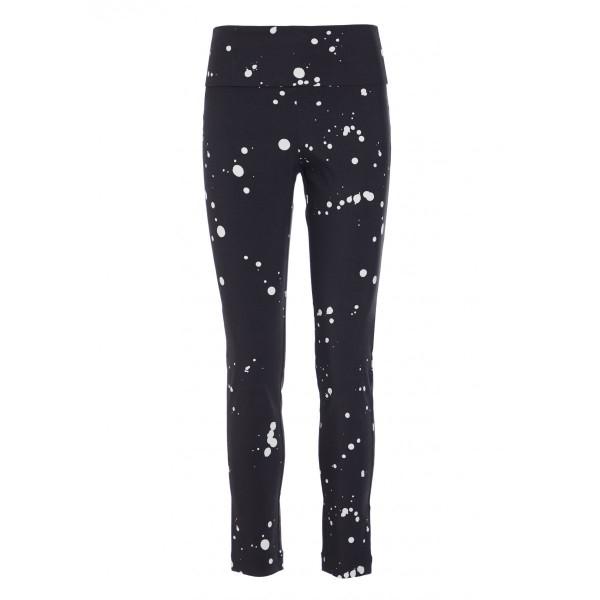 Bitte Kai Rand - Pants Dots - Hose schwarz mit weissen Klecksen