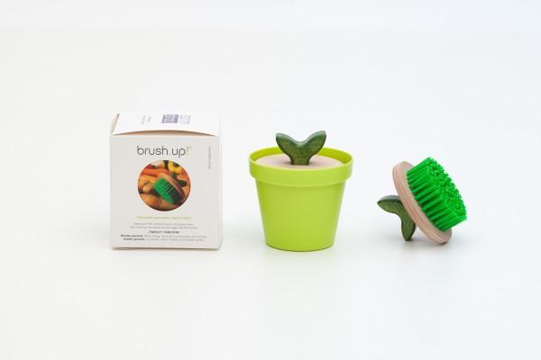 Gemüsebürste Reinigungsbürste - Pflanze im Topf - brush.up veggie