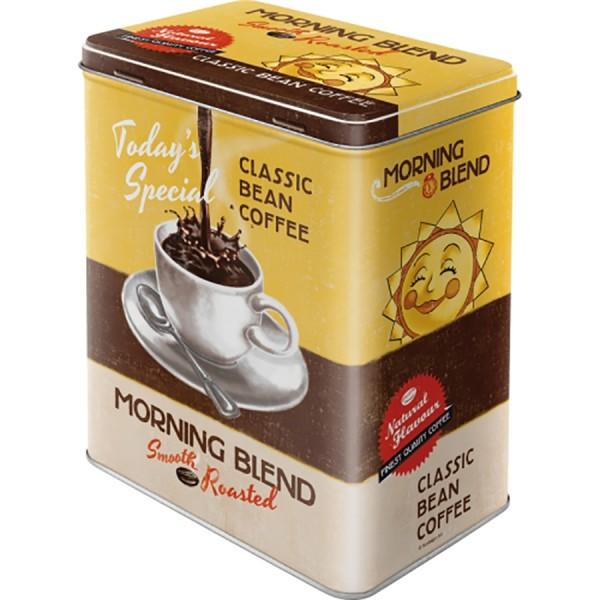 Nostalgie Blechdose Vorratsdose - Kaffeedose Morning Blend - L