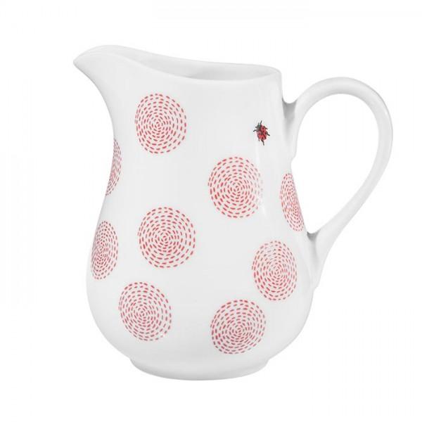 Milchgießer - Ausgießer Milchkännchen 0,5 Liter aus Porzellan - Mustermix Marienkäfer