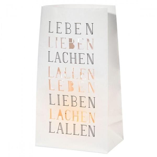 Räder - Poesie et Table Vino Lichttüte - Leben Lieben Lachen