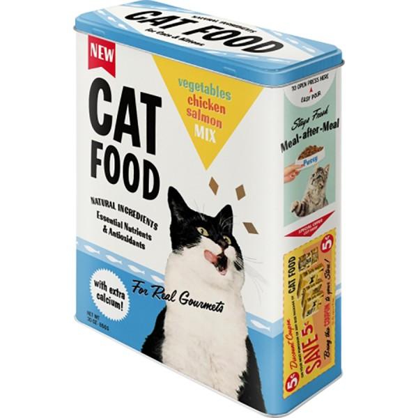Nostalgie Blechdose Vorratsdose XL - Katzenfutter Cat Food - 4L