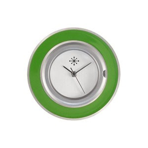 Deja Vu - Edelstahlscheibe - oliv grün rund 31mm - E19