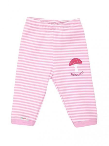 Adelheid - Glückspilz Babyhose - streifen weiß rosa