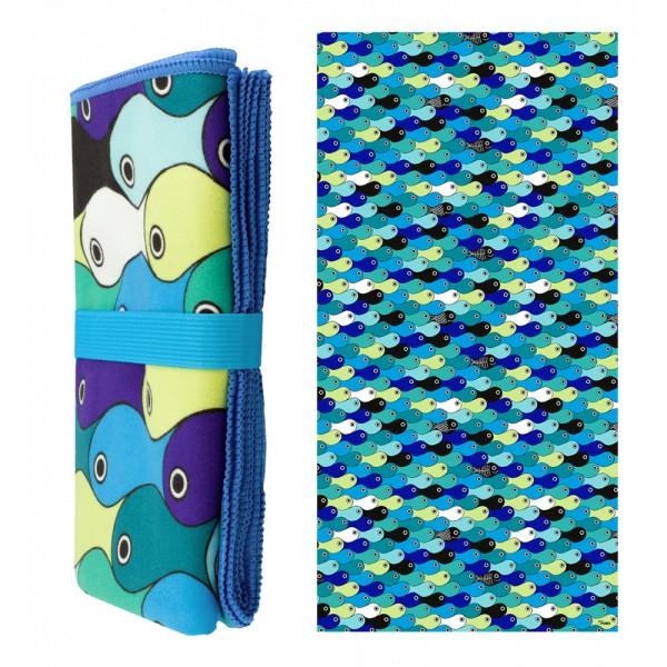 Pylones - Strandtuch Badetuch Mikrofaser - Body DS - Blue Fish
