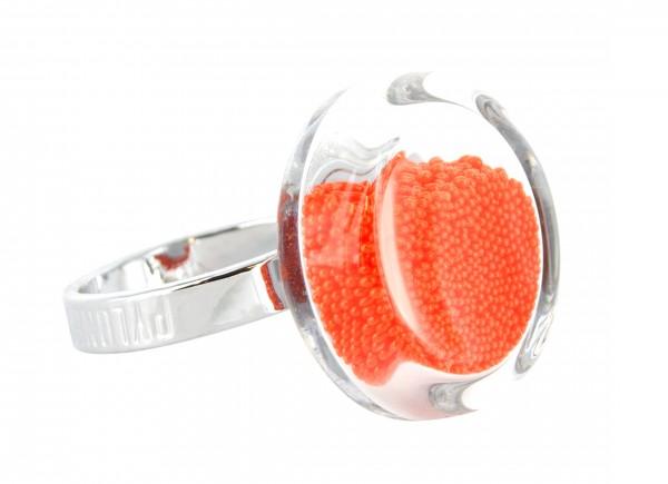 Pylones - Ring - Nano Cachou Billes - Kügelchen orange