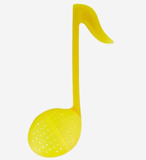 Pylones - Teesieb Teestab - Tee-Ei Note - Music T - gelb