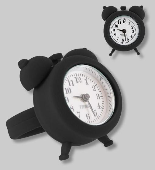 Pylones - Uhren-Ring - Ring mit Uhr - Nano Watch - schwarz