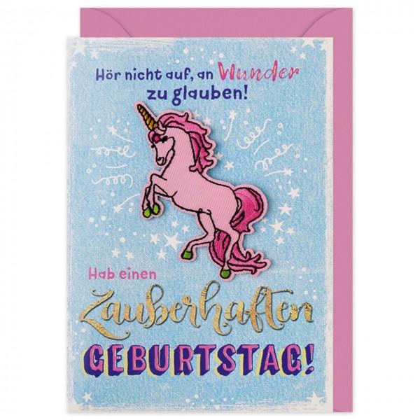 Gruss Und Co Patch Post Geburtstag Einhorn Die Karte Mit