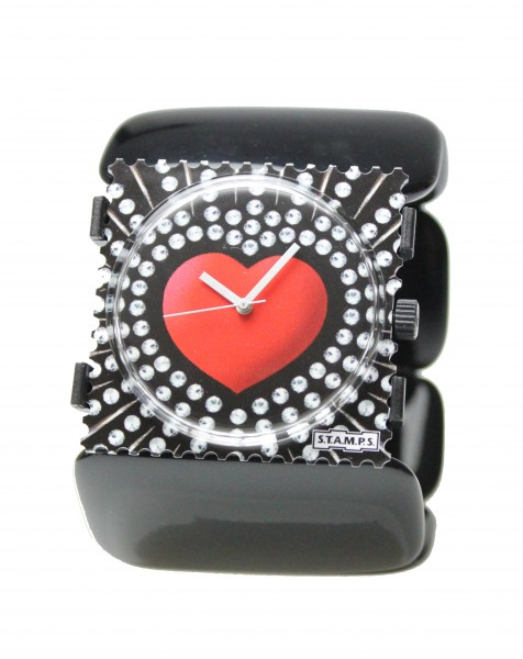 S.T.A.M.P.S. - Armband Belta Oval Schwarz - ohne Uhr - Stamps