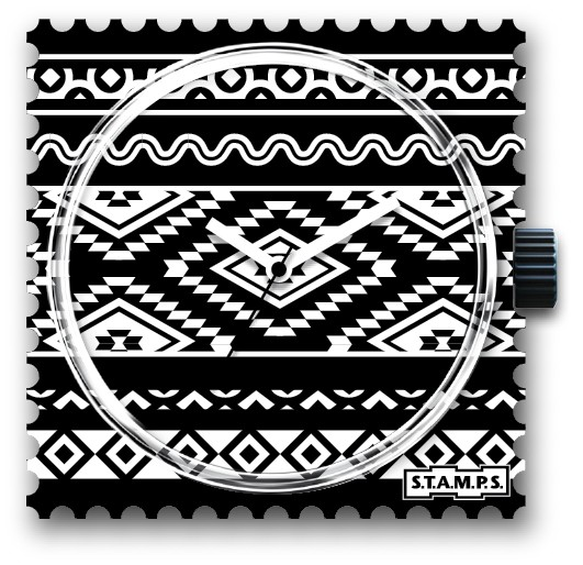 S.T.A.M.P.S. - Uhr - Ikat - Stamps