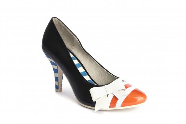 timeless design 572b4 479e0 Lola Ramona - Schuhe - Pumps - Stiletto - orange black cream
