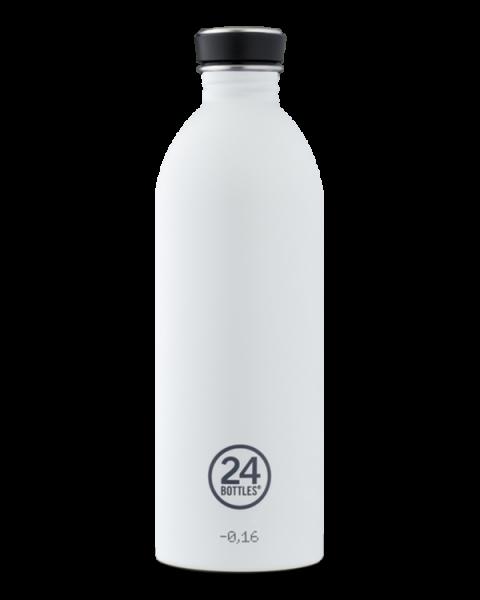 24bottles - Edelstahl-Trinkflasche 1 Liter - ice white weiss