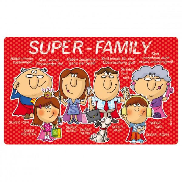 Frühstücksbrettchen - Super Family