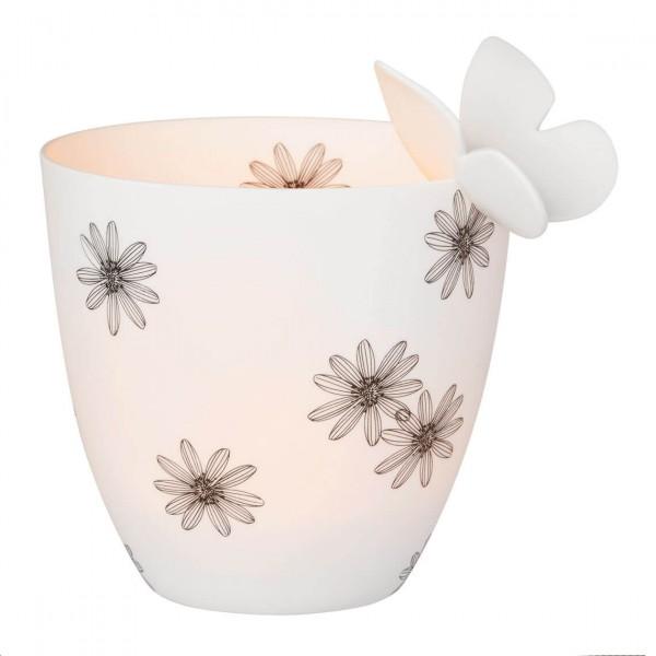 Räder - Kerzenhalter Teelichthalter Schale - Poesielicht Schmetterling