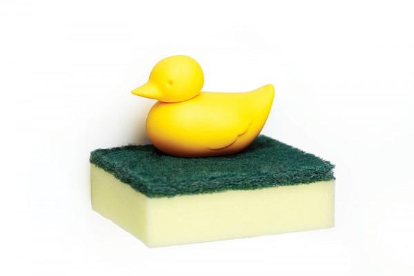 Qualy - Schwammhalter Schwamm-Ablage Ente - Duck Sponge Holder