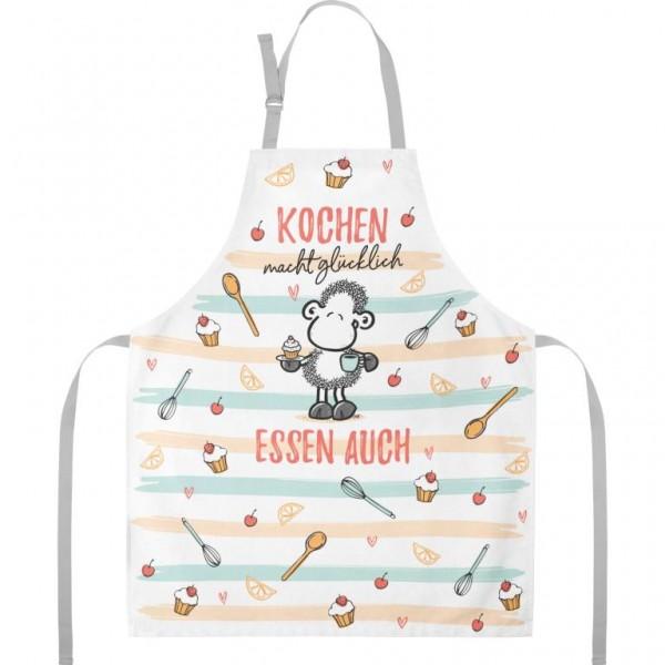 Sheepworld - Kochschürze Küchenschürze - Kochen macht glücklich, Essen auch
