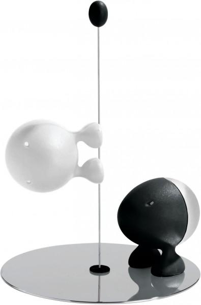 Alessi - Salz- und Pfefferstreuer - Lilliput - schwarz & weiß