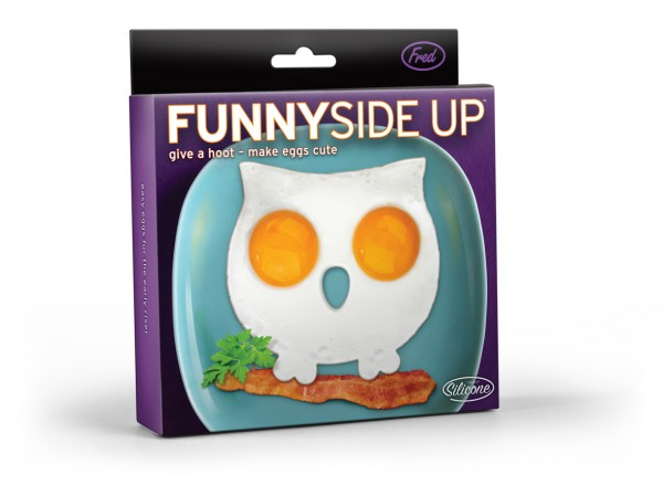 Invotis - Fred - Spiegelei-Form Eierform Eule - Funny Side Up