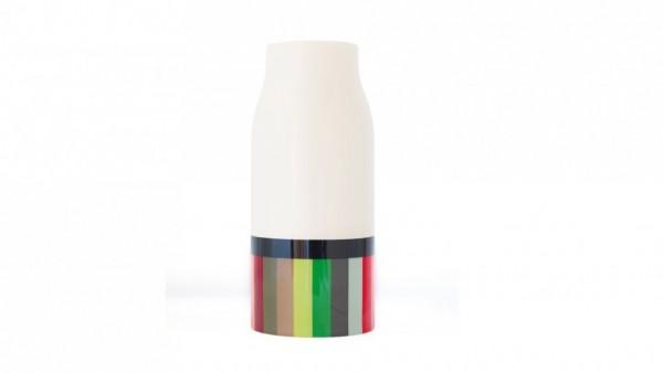 Remember - Blumenvase aus Porzellan - Streifen Stripes