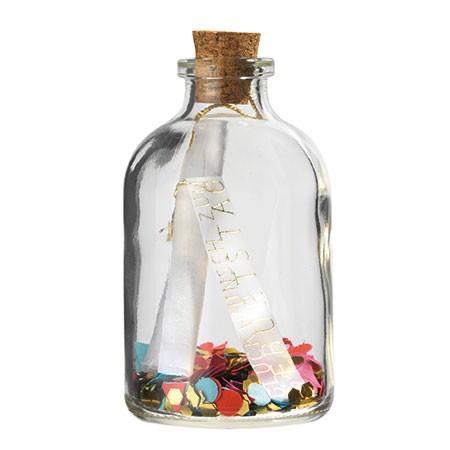 Räder - Herzstücke Flaschenpost - Flasche mit Grußbotschaft - Geburtstag