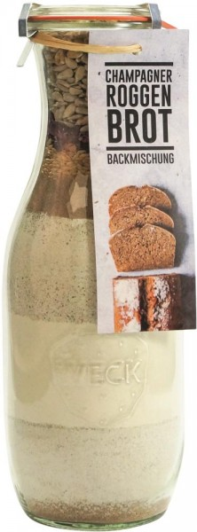 Brotbackmischung im Weck-Glas - Champagner-Roggen-Brot - 1062 ml
