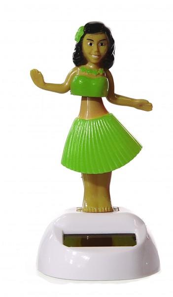 Pylones - Solar-Wackelfigur - Flip Flap 1-2-3 Soleil - Hula-Mädchen grün - tanzt im Sonnenlicht
