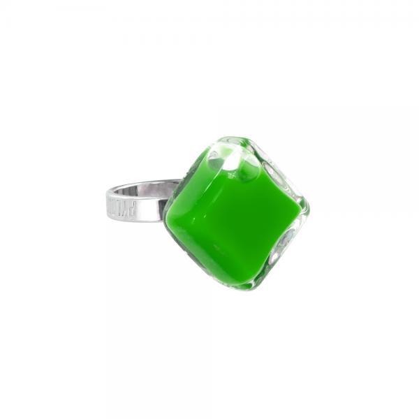 Pylones - Ring - Nano Losange Milk - Flüssigkeit dunkelgrün